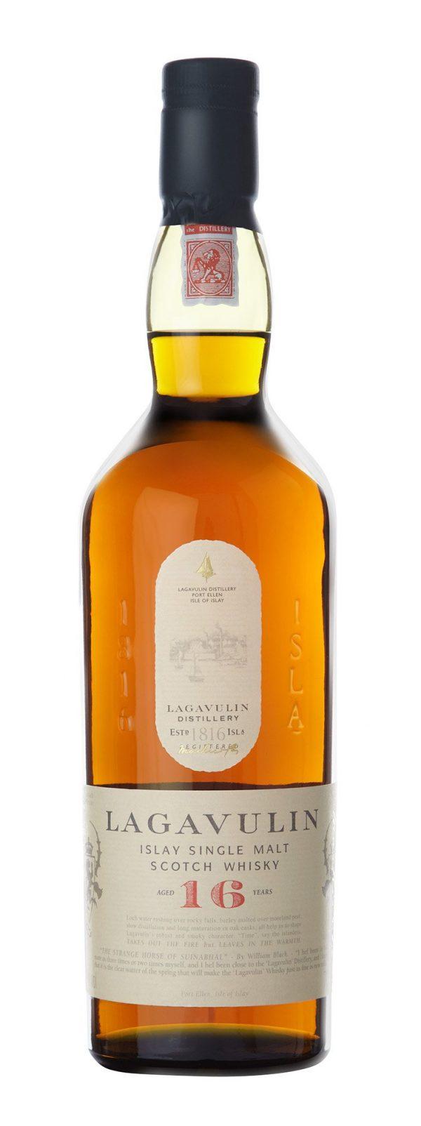 Bottiglia di whiskey Lagavulin 16