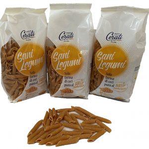 Pacchi di pasta di ceci prodotti dal pastificio cerati